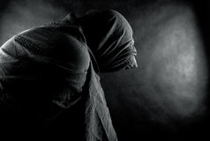 Ghost in the dark. Scary ghost in the dark Stock Images