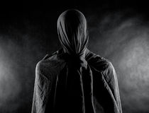 Ghost in the dark stock photography