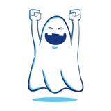 Ghost de cri heureux illustration de vecteur