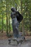Ghost de la veuve noire en vieux parc de château de Nesvizh images libres de droits