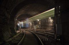 Ghost de train dans le tunnel photographie stock libre de droits