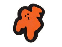 Ghost decoration. Halloween ghost stamp isolated on white Stock Image