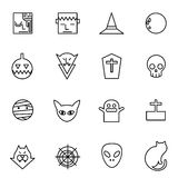 Ghost devil haloween icons set vector illustration Stock Photography