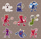 Ghost and devil stickers Stock Photos