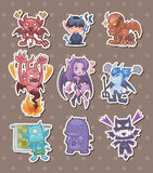 Ghost and devil stickers Royalty Free Stock Photography