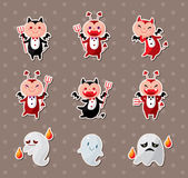 Ghost and devil stickers Royalty Free Stock Photos
