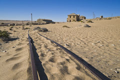 Ghost diamond mining town Kolmanskop Royalty Free Stock Photo