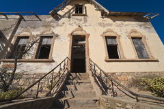 Ghost diamond mining town Kolmanskop Royalty Free Stock Images