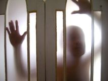 Ghost through the door Royalty Free Stock Photography