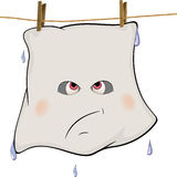 Ghost drying on a rope cartoon Stock Photos