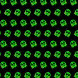 Ghost - emoji pattern 69. Pattern of a emoji ghost that can be used as a background, texture, prints or something else stock illustration