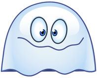 Ghost emoticon. Emoticon vector design of a happy ghost royalty free illustration