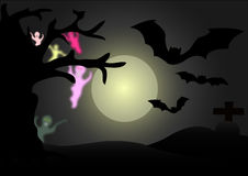 Ghost en pleine lune Image stock