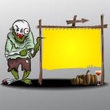 Ghost et cadre jaune Illustration de Vecteur