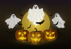 Ghost et potiron Halloween Images stock