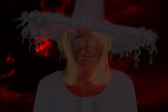 Ghost of evil witch Royalty Free Stock Image