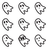 Ghost Face Expressions Icons Stock Image