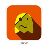 Ghost face flat icon design. Animal icons series. Royalty Free Stock Image