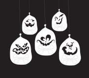 Ghost fait face, des visages de potiron Images stock