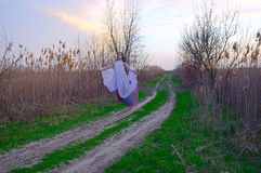 The Ghost flies along the road Stock Photos