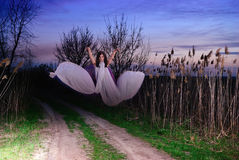 The Ghost flies along the road Stock Images