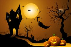 Ghost flying in halloween night Royalty Free Stock Photography