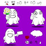 Ghost funny cartoon set6 Royalty Free Stock Photo