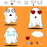Ghost funny cartoon set9 Stock Images