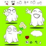Ghost funny cartoon set Stock Photos