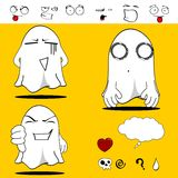 Ghost funny cartoon set3 Stock Photo