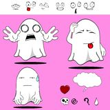Ghost funny cartoon set4 Stock Images
