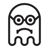 Ghost geek smart angry face Royalty Free Stock Photography