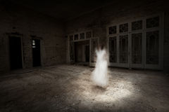 Ghost girl in white appears in the room Stock Images