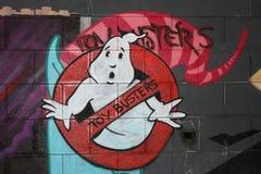 Ghost graffiti royalty free stock image
