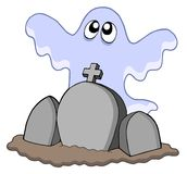 Ghost with graves Stock Image