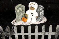 Ghost in Graveyard Royalty Free Stock Image