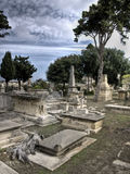 Ghost at Graveyard Royalty Free Stock Photography