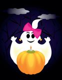 Ghost on halloween Royalty Free Stock Photo