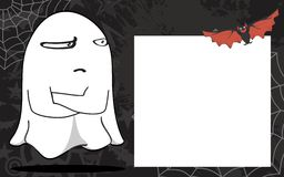 Ghost halloween cartoon expressions frame background2 Stock Photography