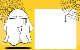 Ghost halloween cartoon expressions frame background3 Royalty Free Stock Photo