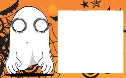 Ghost halloween cartoon expressions frame background4 Royalty Free Stock Images