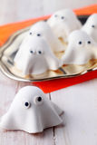 Ghost Halloween decorations or appetizers Royalty Free Stock Photo