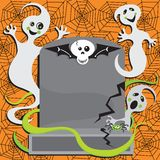Ghost Halloween Party Invitation Stock Images