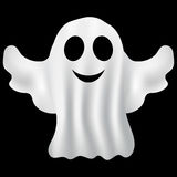 Ghost Halloween party in a white sheet Royalty Free Stock Images