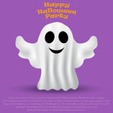 Ghost Halloween party in a white sheet Stock Photos
