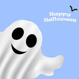 Ghost Halloween party in a white sheet Stock Photo