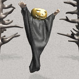 Ghost of halloween pumpkin Stock Images