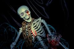 Ghost on halloween,  Skeleton in black background Royalty Free Stock Image