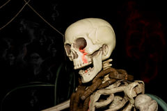 Ghost on halloween, Skeleton with neck chain Royalty Free Stock Image