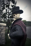 Ghost. Halloween ghost statue, Portrait of Human skull, Vintage film style stock image